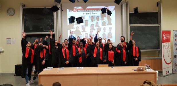 Remise des diplômes - Master de Mécanique - Promo 2019